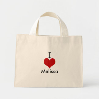 Eu amo (coração) Melissa Sacola Tote Mini