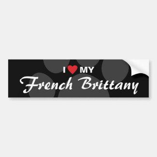 Eu amo (coração) meu Brittany francês Adesivo