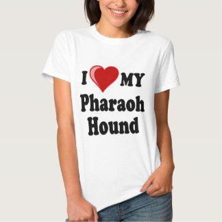 Eu amo (coração) meu cão de cão do faraó t-shirt