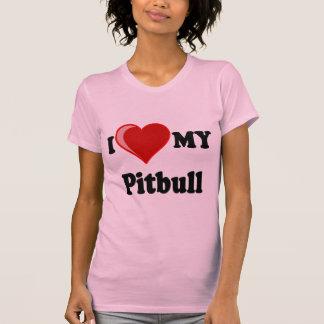 Eu amo (coração) meu cão de Pitbull Camiseta