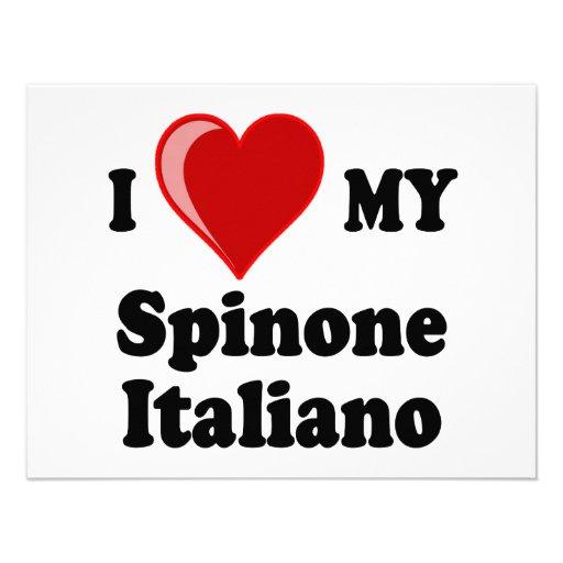 Eu amo (coração) meu cão de Spinone Italiano Convite Personalizados