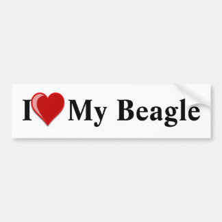 Eu amo (coração) meu cão do lebreiro adesivo para carro