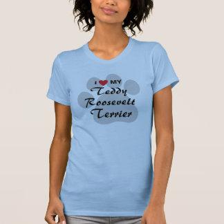 Eu amo (coração) meu Teddy Roosevelt Terrier T-shirts