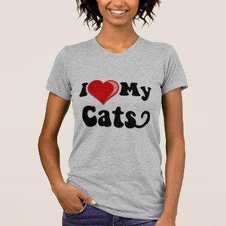 Eu amo (coração) meus gatos tshirts