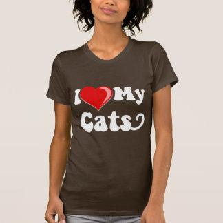 Eu amo (coração) meus gatos camiseta