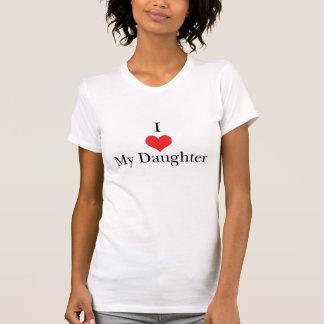 Eu amo (coração) minha filha t-shirts