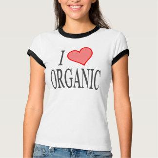 Eu amo (coração) orgânico camiseta