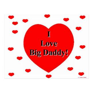 Eu amo corações grandes do pai por A. Celeste Cartão Postal