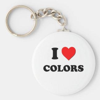 Eu amo cores chaveiro