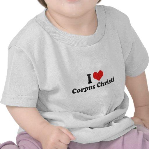 Eu amo Corpus Christi Camisetas