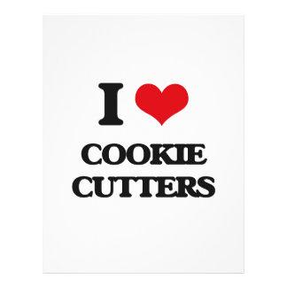 Eu amo cortadores do biscoito panfletos personalizado