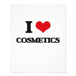 Eu amo cosméticos panfletos