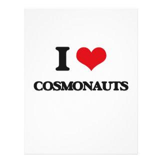 Eu amo cosmonautas panfletos personalizados