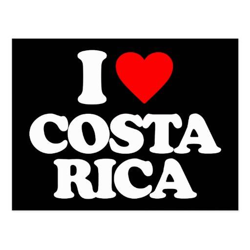 EU AMO COSTA RICA CARTÕES POSTAIS