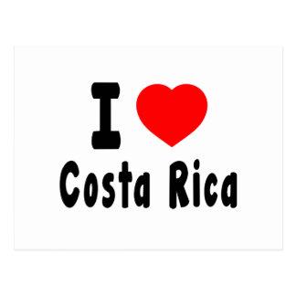 Eu amo Costa Rica. Cartão Postal