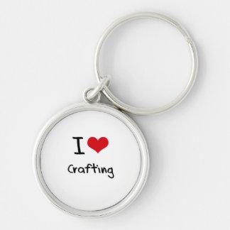 Eu amo Crafting Chaveiro
