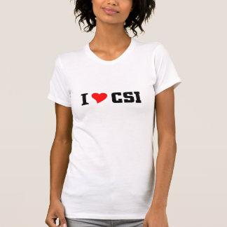 Eu amo CSI Camisetas