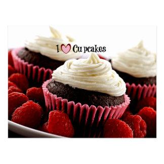 Eu amo cupcakes cartão postal