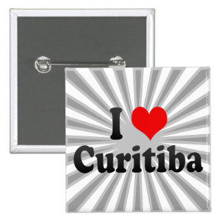 Eu amo Curitiba Brasil Boton