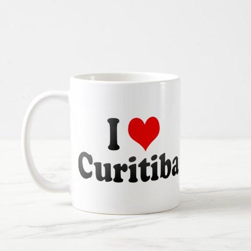 Eu amo Curitiba, Brasil Canecas