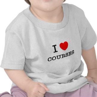 Eu amo CURSOS Camiseta