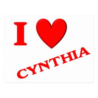 Eu amo Cynthia Cartoes Postais