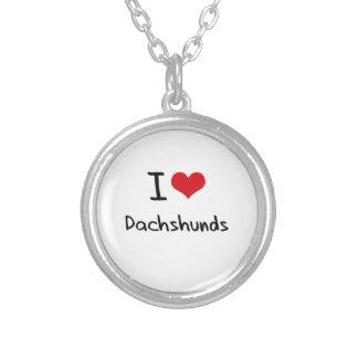 Eu amo Dachshunds Colares Personalizados