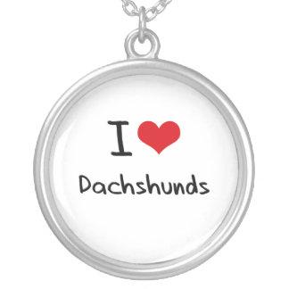 Eu amo Dachshunds Bijuterias Personalizadas
