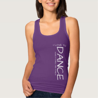 Eu amo dançar a camisa da mulher