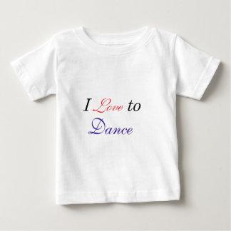 Eu amo dançar camisetas