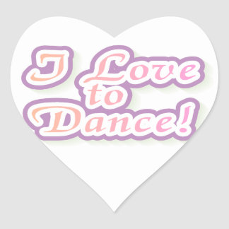 Eu amo dançar o camiseta e os presentes adesivo coração