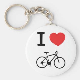 Eu amo dar um ciclo chaveiros