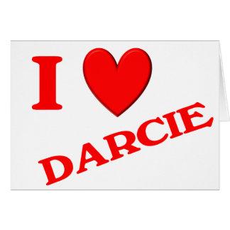Eu amo Darcie Cartao