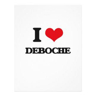 Eu amo DEBOCHE Panfletos Personalizados