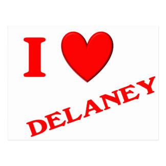 Eu amo Delaney Cartoes Postais