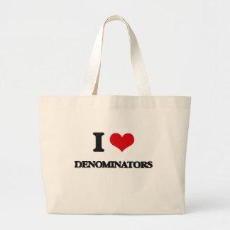 Eu amo denominadores bolsas