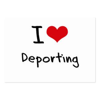 Eu amo Deporting Cartão De Visita Grande