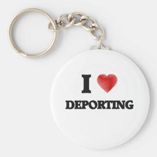 Eu amo Deporting Chaveiro