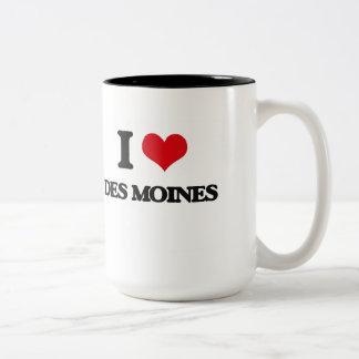 Eu amo Des Moines Caneca Dois Tons
