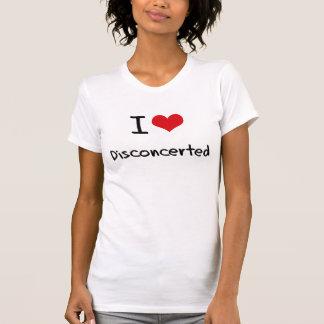 Eu amo desconcertado camisetas