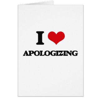 Eu amo desculpar-se cartoes