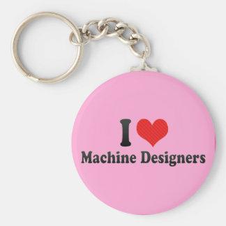 Eu amo desenhistas da máquina chaveiro