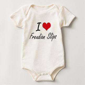 Eu amo deslizamentos freudianos macacãozinhos para bebê