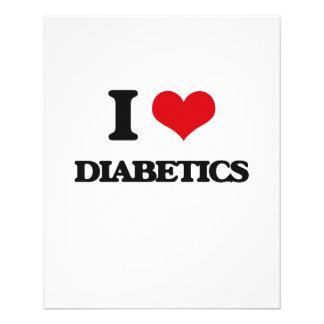 Eu amo diabéticos modelos de panfleto