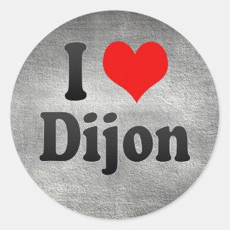 Eu amo Dijon, France. J'Ai L'Amour Dijon, France Adesivo