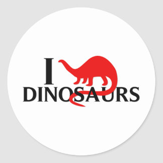 Eu amo dinossauros adesivo