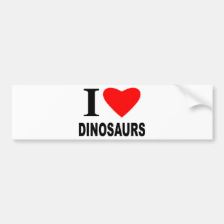 Eu amo dinossauros adesivo para carro