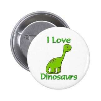 Eu amo dinossauros bóton redondo 5.08cm