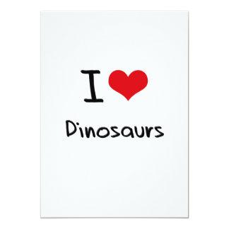 Eu amo dinossauros convite