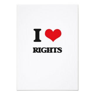 Eu amo direitos convites